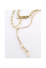 PILGRIM Simplicity 2-in-1 Gold-Plated Necklace by Pilgrim