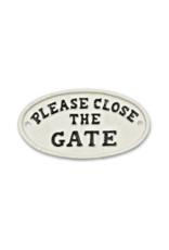 Close The Gate Sign