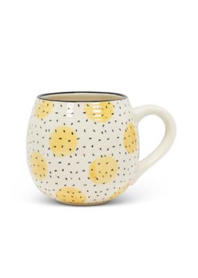 Yellow Circles Ball Mug