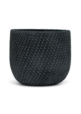 Mesh Texture Planter Charcoal Large