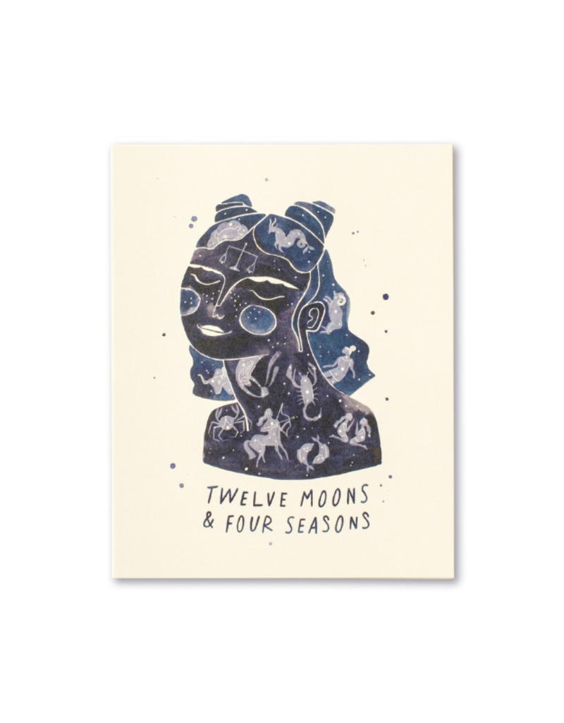 Twelve Moons & Four Seasons Card