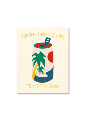 Top 5 Things I Would Take With Me Card
