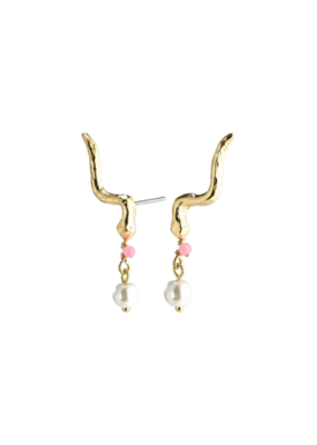 PILGRIM Poesy Climber Earrings Gold-Plated Rose by Pilgrim
