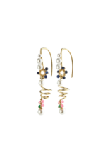 PILGRIM Poesy Earrings Gold-Plated Multi by Pilgrim