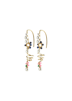 PILGRIM Poesy Earrings Gold-Plated Multi by Pilgrim