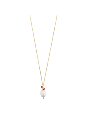 PILGRIM Poesy Necklace Gold-Plated Multi with Freshwater Pearl by Pilgrim