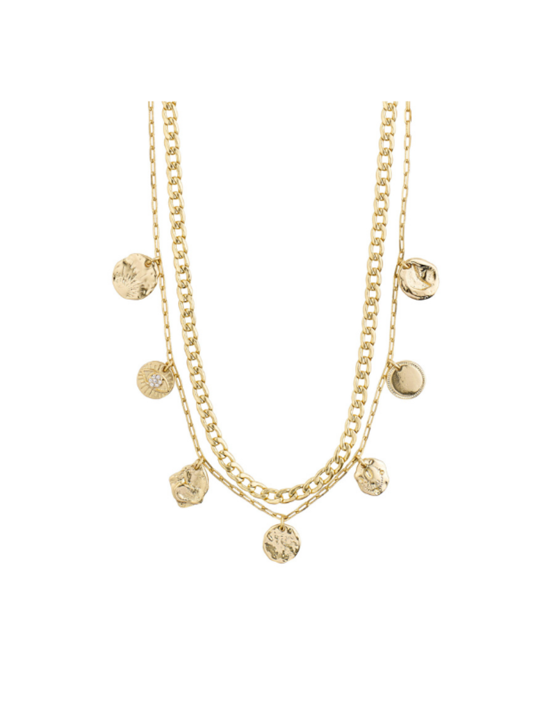 PILGRIM Poesy 2-in-1 Necklace Gold-Plated by Pilgrim