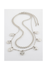 PILGRIM Poesy 2-in-1 Necklace Silver-Plated by Pilgrim