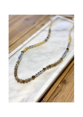 Merx Chain Necklace Silver Light Yellow