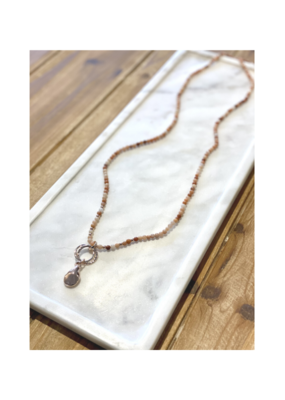 Merx Chain Necklace Rose Gold Nude