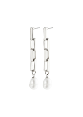 PILGRIM Columba Earrings Silver-Plated Freshwater Pearl by Pilgrim