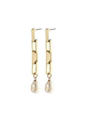 PILGRIM Columba Earrings Gold-Plated Freshwater Pearl by Pilgrim