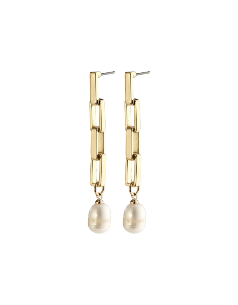 PILGRIM Columba Earrings Gold-Plated Freshwater Pearl by Pilgrim