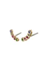 PILGRIM Anita Earrings Gold-Plated Multi by Pilgrim