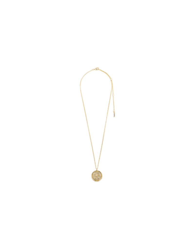 PILGRIM Gerda Necklace Gold-Plated Crystal by Pilgrim