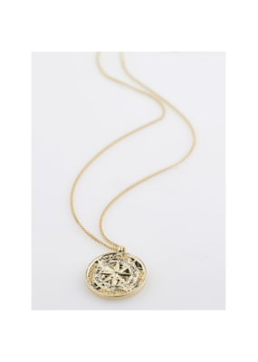 PILGRIM Gerda Necklace Gold-Plated Crystal by Pilgrim