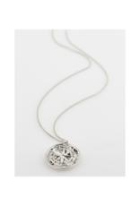 PILGRIM Gerda Necklace Silver-Plated Crystal by Pilgrim