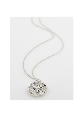 PILGRIM Gerda Necklace Silver-Plated Crystal by Pilgrim