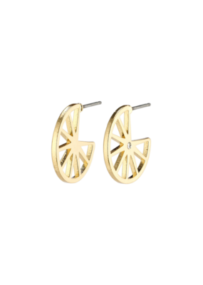 PILGRIM Kaylee Earrings Gold-Plated Crystal by Pilgrim