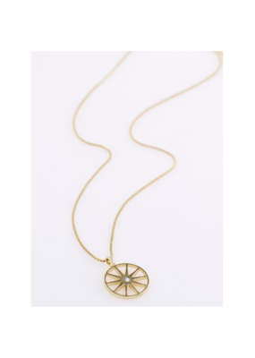 PILGRIM Kaylee Necklace Gold-Plated Crystal by Pilgrim