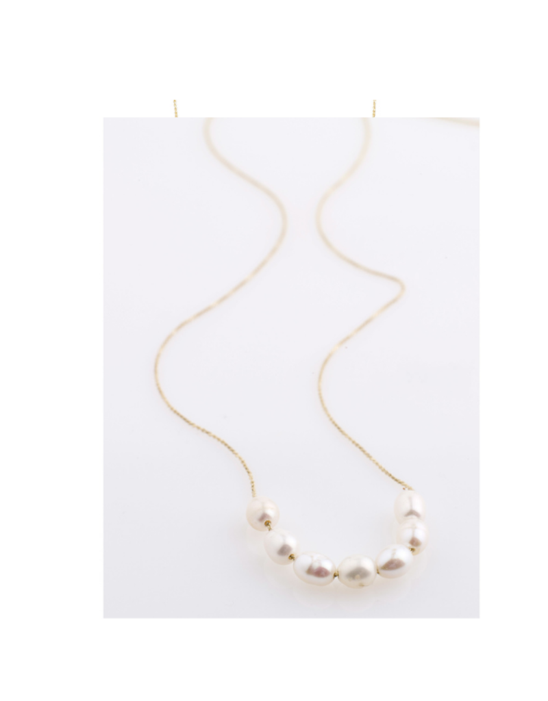 PILGRIM Chloe Necklace Gold-Plated Freshwater Pearl by Pilgrim