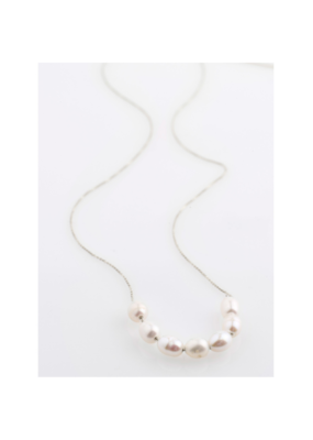 PILGRIM Chloe Necklace Silver-Plated Freshwater Pearl by Pilgrim