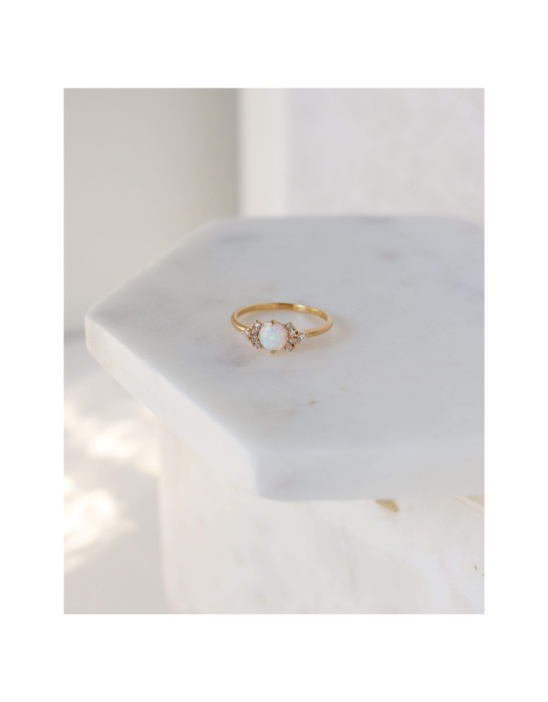 Lover's Tempo Echo Ring Gold-Plated Opal by Lover's Tempo