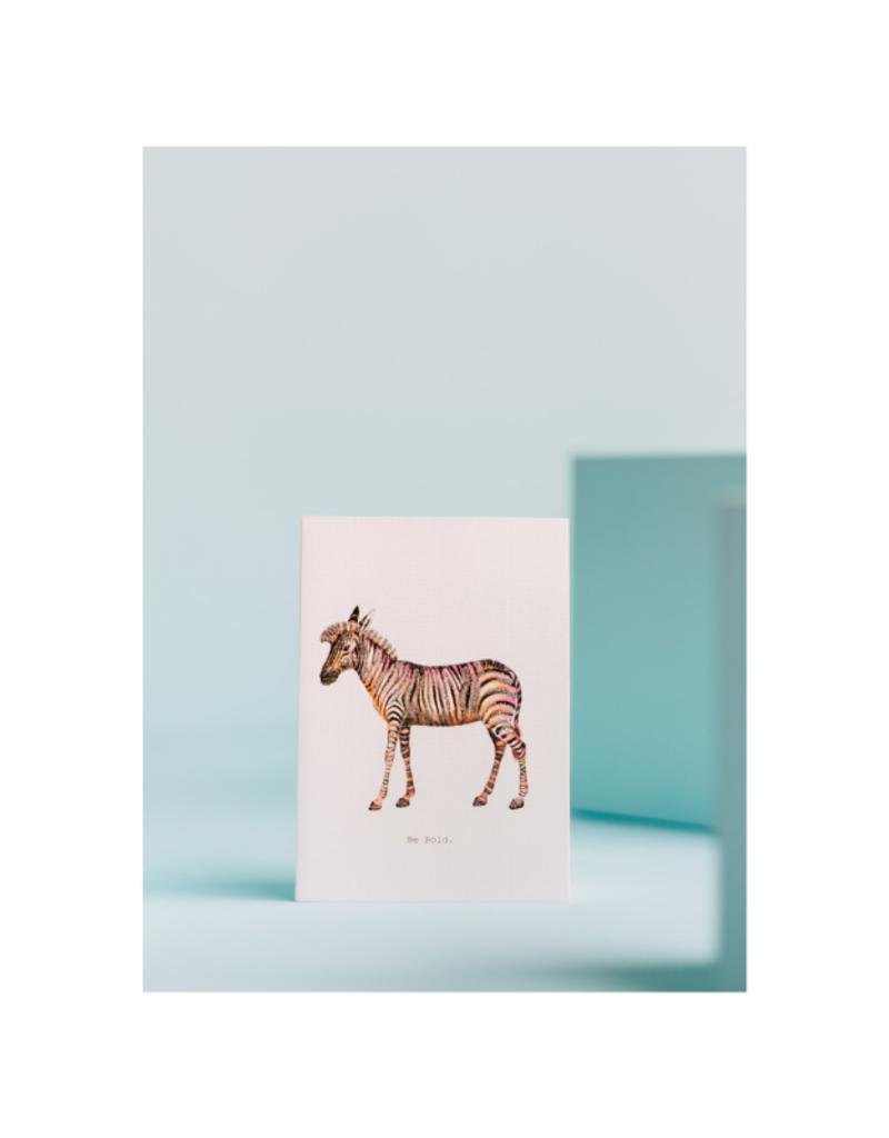 Be Bold Zebra Card