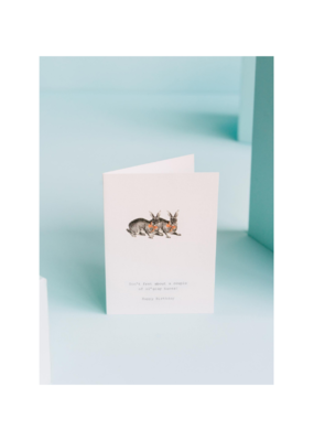 Don't Fret Grey Hares Card