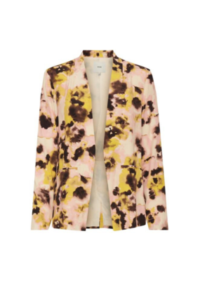 ICHI Vauna Blazer in Super Lemon Print by ICHI
