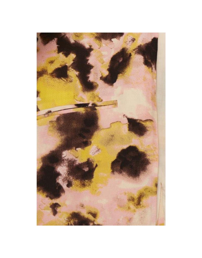 ICHI Vauna Blazer in Super Lemon Print by ICHI