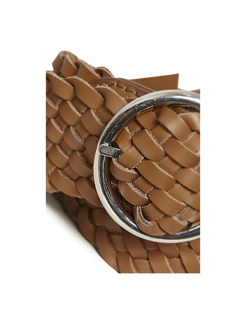 Part Two Hande Leather Belt  in Hazel Brown by Part Two