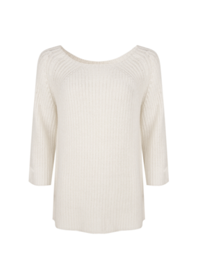 3/4 Sleeve Knit Sweater in Off White by Esqualo