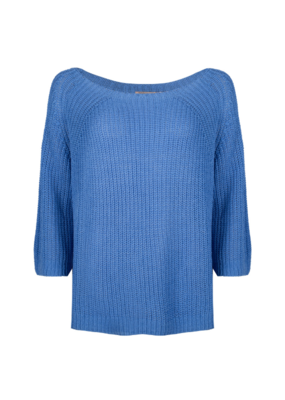 3/4 Sleeve Knit Sweater in Blue by Esqualo