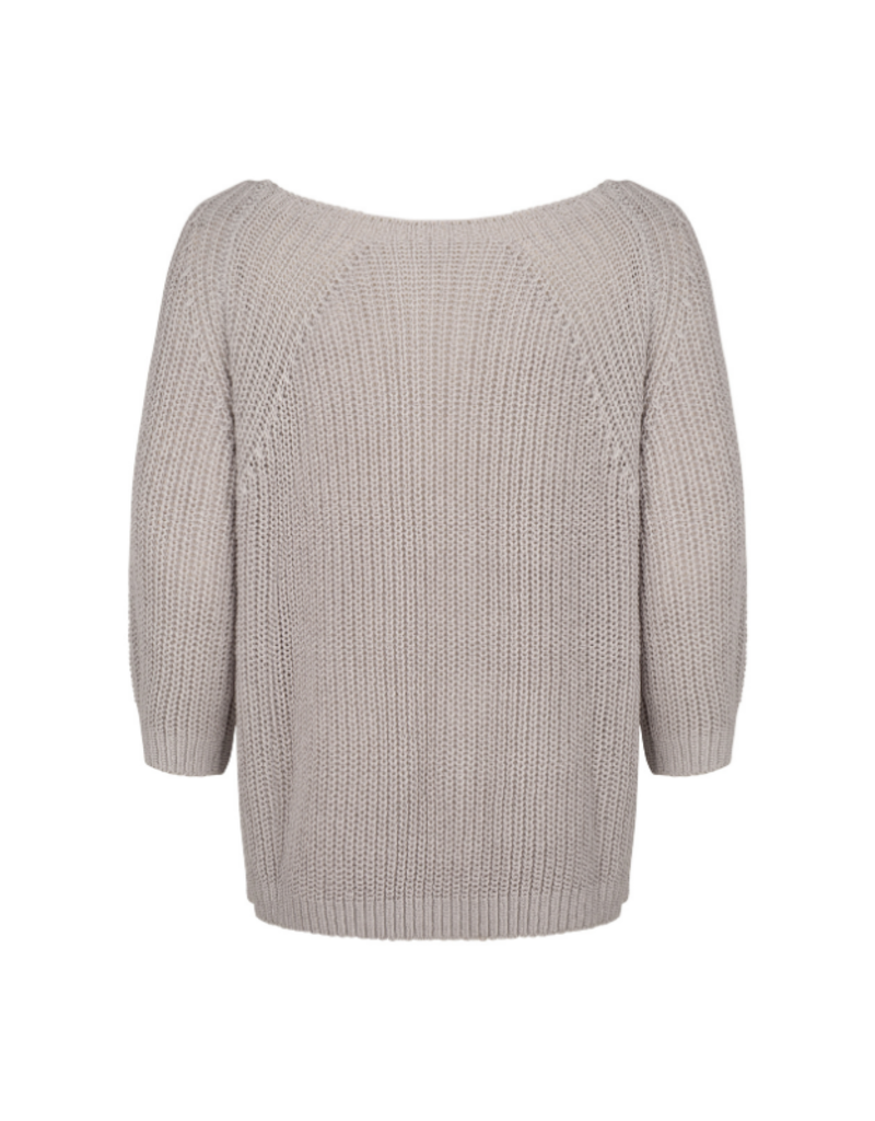3/4 Sleeve Knit Sweater in Light Grey by Esqualo