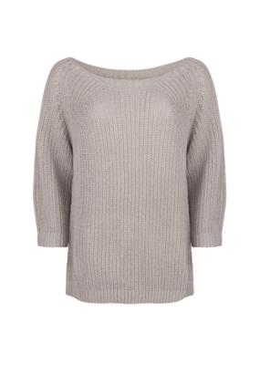 3/4 Sleeve Knit Sweater in Light Grey by Esqualo