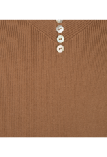 ESQUALO Camisole with Buttons in Cappuccino by EsQualo