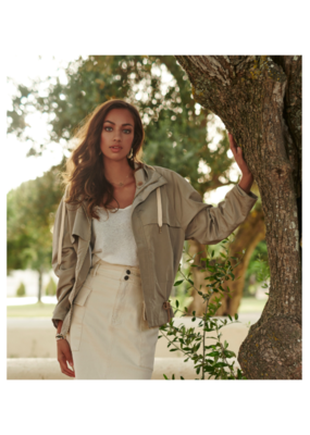 Olive Parka Coat with Hood by EsQualo