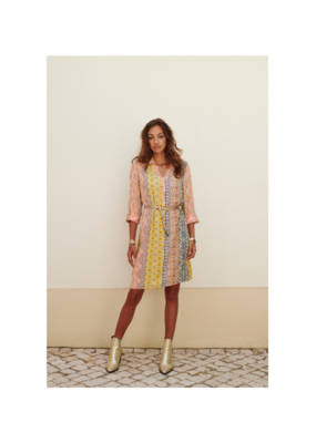 Print Dress With Collar by EsQualo