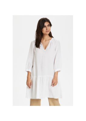 Part Two Chania Linen Dress in Bright White by Part Two