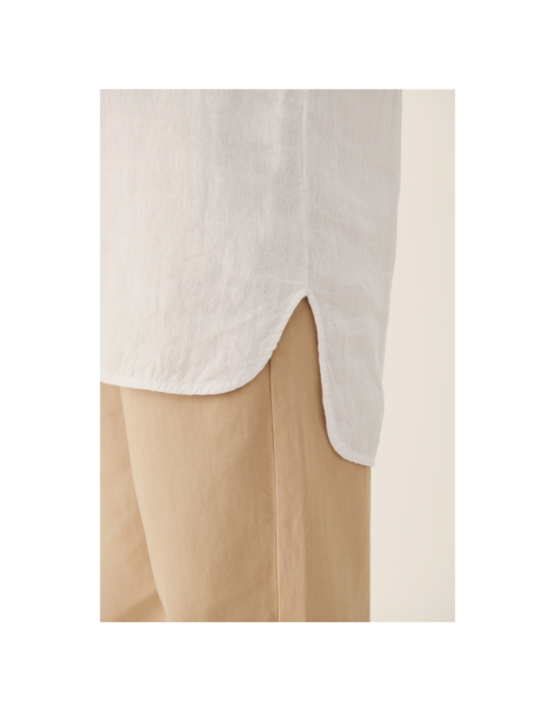 Part Two Kiva Linen Shirt in Bright White by Part Two