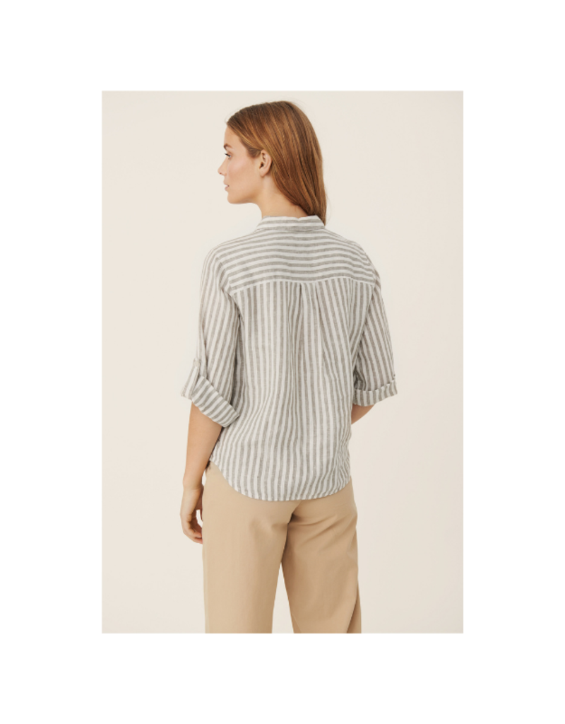 Part Two Cindie Shirt in Vetiver Stripe by Part Two