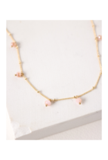 Lover's Tempo Dot Crystal Necklace in Blush by Lover's Tempo