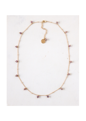 Lover's Tempo Dot Crystal Necklace in Plum by Lover's Tempo