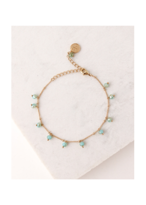 Lover's Tempo Dot Crystal Bracelet in Sea by Lover's Tempo