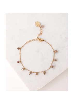 Lover's Tempo Dot Crystal Bracelet in Plum by Lover's Tempo