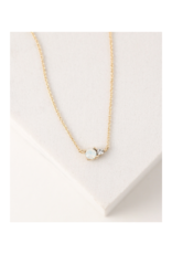 Lover's Tempo Dolce Necklace in White Opal by Lover's Tempo
