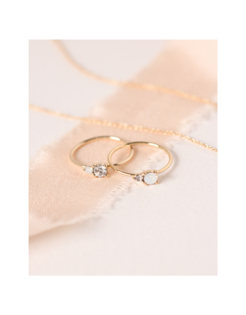 Lover's Tempo Dolce Ring in Clear by Lover's Tempo
