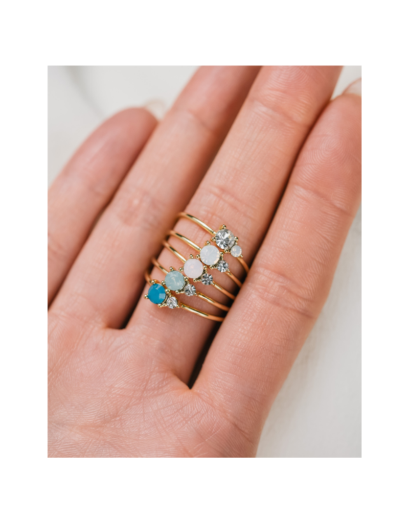Lover's Tempo Dolce Ring in White Opal by Lover's Tempo