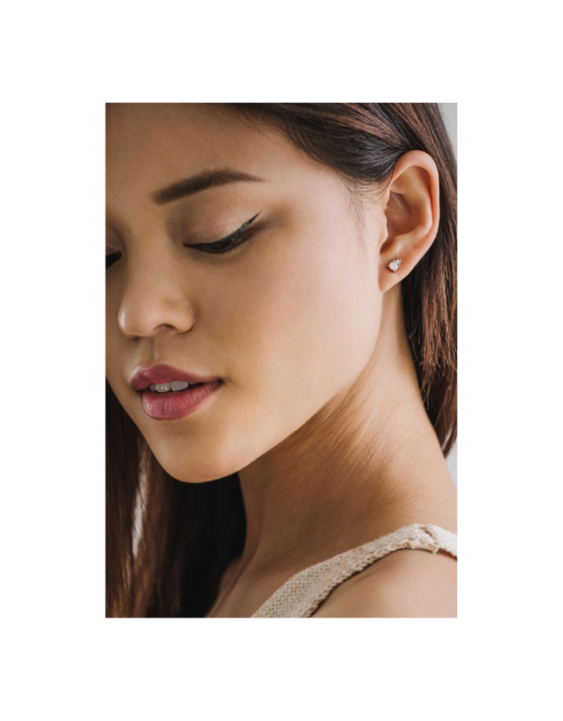 Lover's Tempo Dolce Earring Studs in Clear by Lover's Tempo